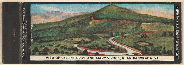 View of Skyline Drive and Mary's Rock, near Panorama, VA. from Shenandoah National Park, Souvenir Views Match Cover series (U40.12).jpg